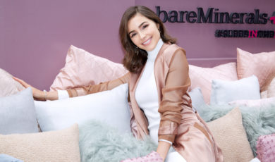Olivia Culpo at the bareMinerals + Cosmopolitan National Sleepover Day party