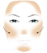 Bronzer application instructional image
