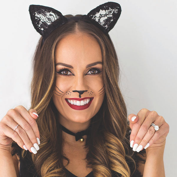 A Halloween cat makeup look by bareMinerals