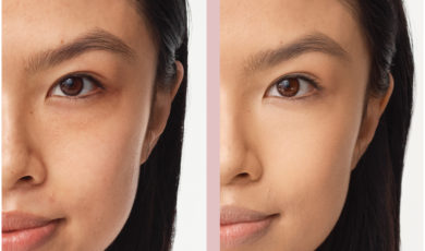 Before and after BAREPRO concealer