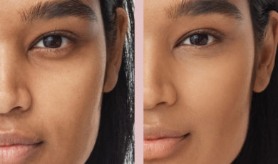 Contour with concealer: before and after