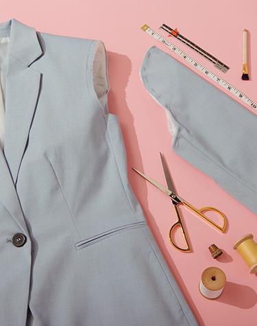 Tailoring a gray blazer