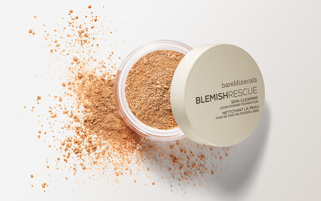 blemish rescue skin-clearing loose powder foundation spilled out