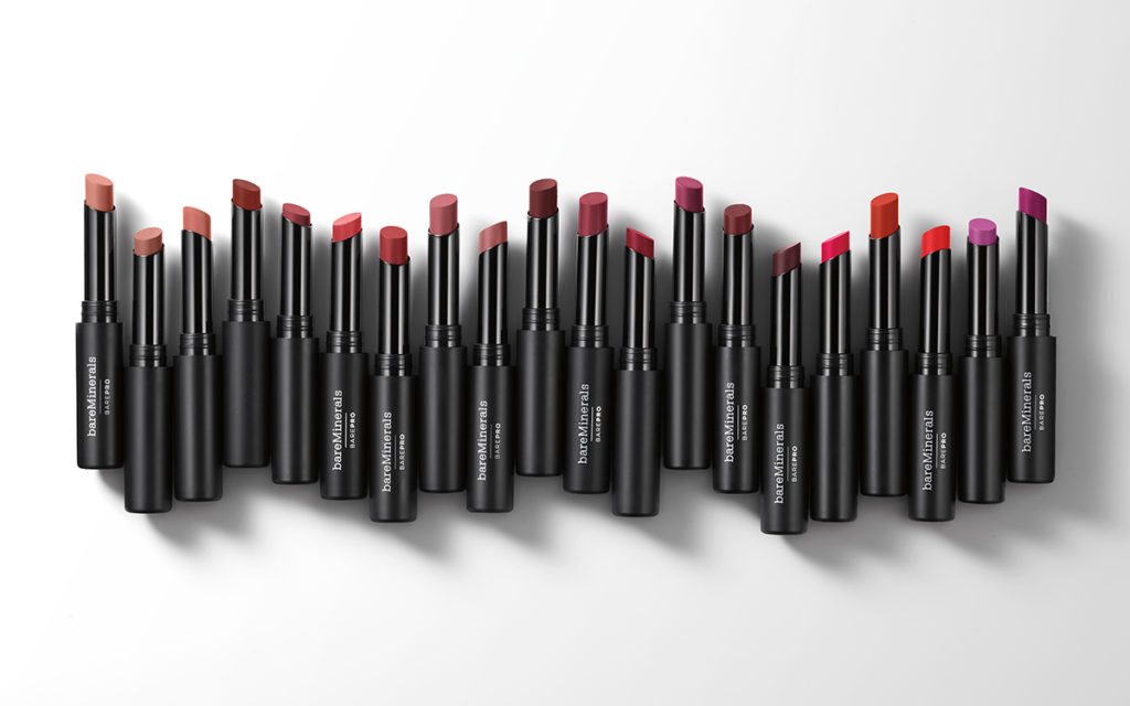 barepro longwear lipsticks shades in a row