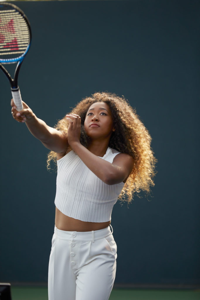 Naomi Osaka playing tennis
