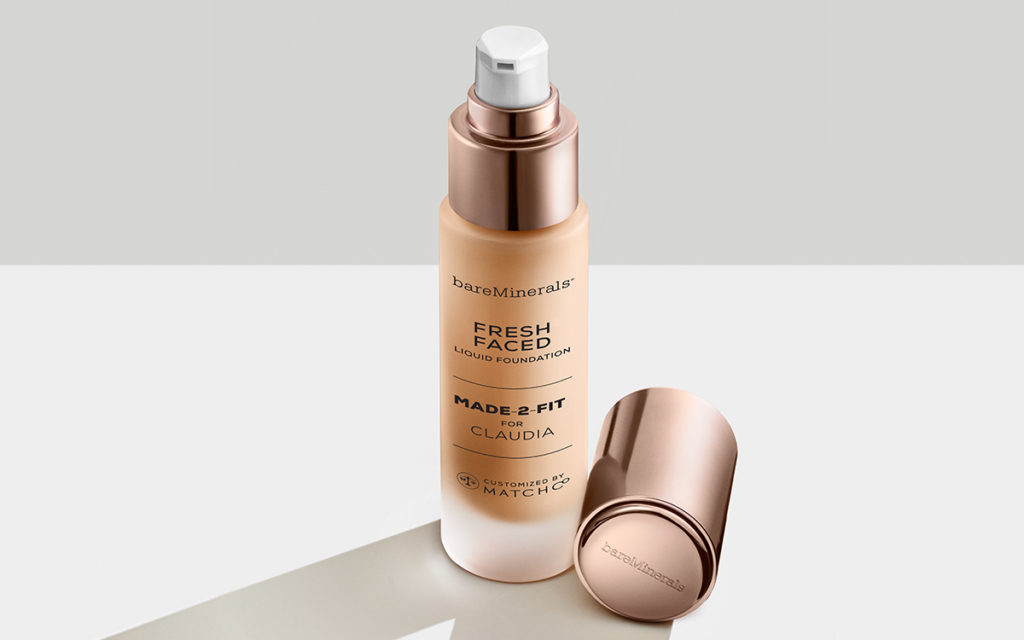 bareMinerals Fresh Faced custom-blended foundation formula with custom name