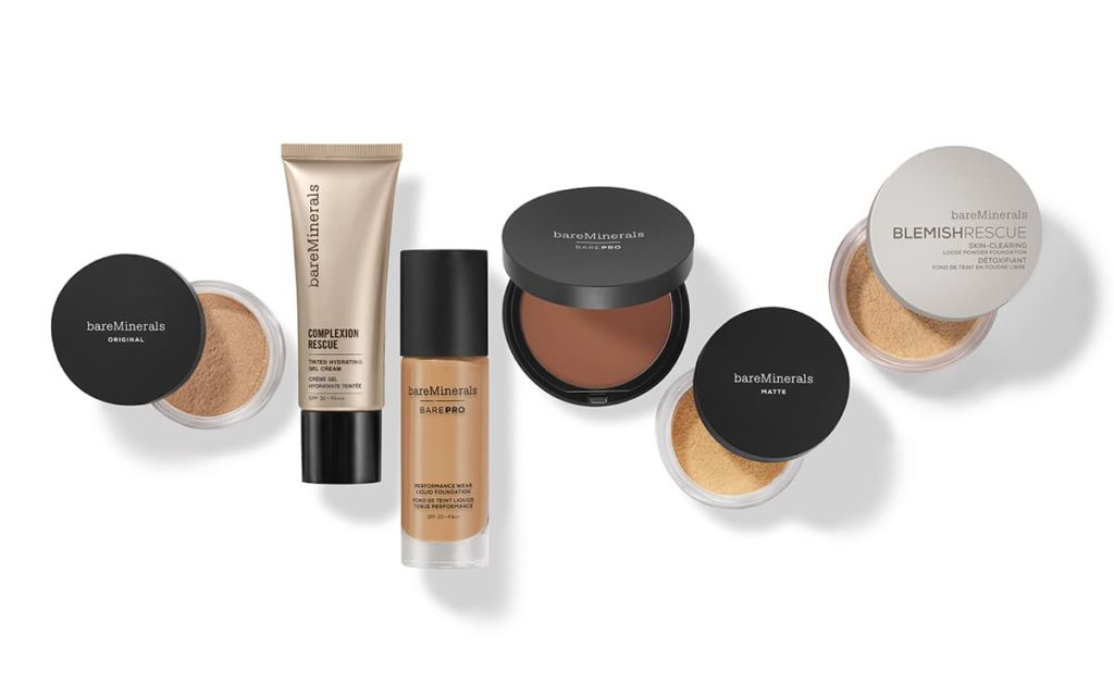 bareMinerals mineral foundation collection
