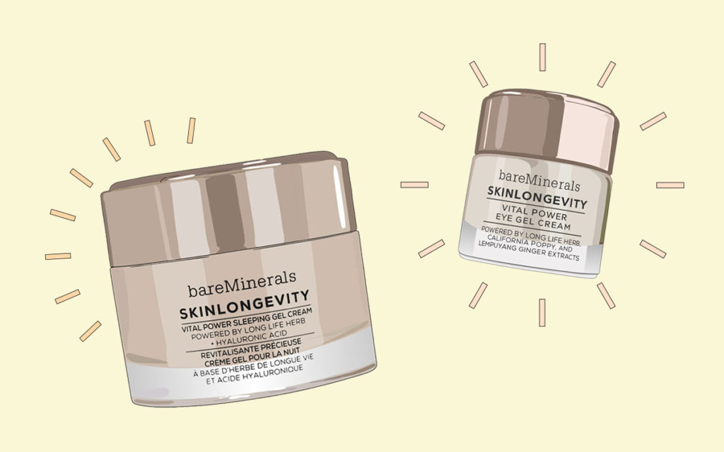 bareMinerals skinlongevity overnight cream and eye cream