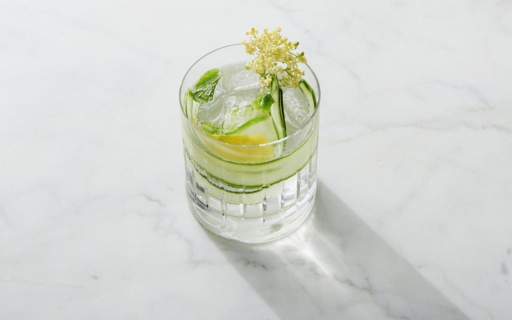 elderflower cucumber cocktail