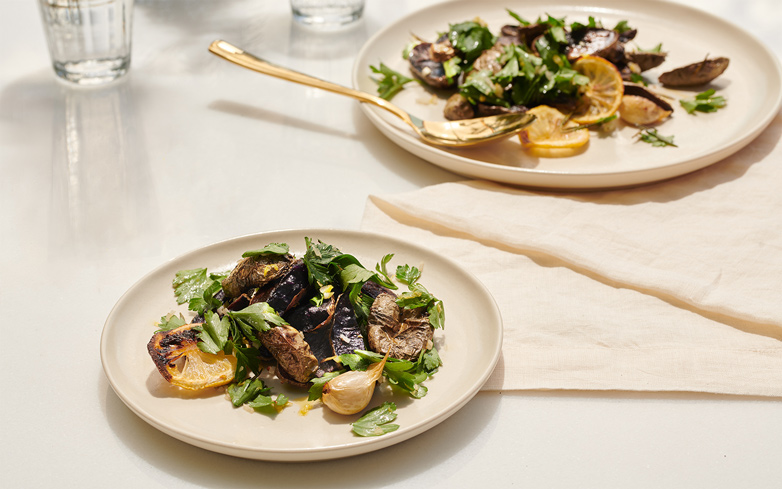 Elevate a Classic: Rosemary Roasted Potatoes with Lemon & Parsley Salad