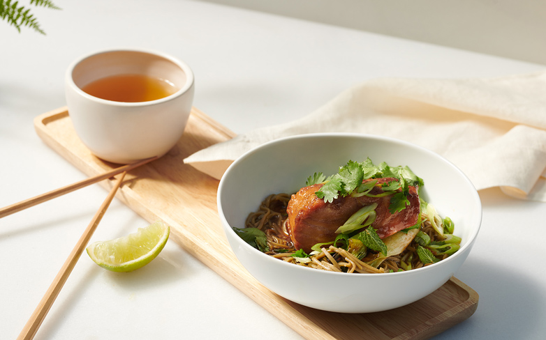 The Perfect Winter Meal: Ginger and Miso Salmon with Green Tea Noodles